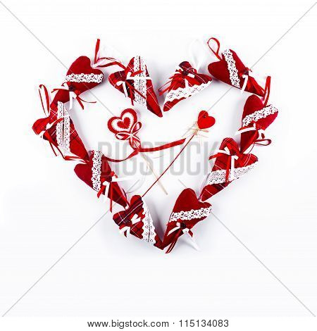 One Big Red Valentine Heart Isolated On White