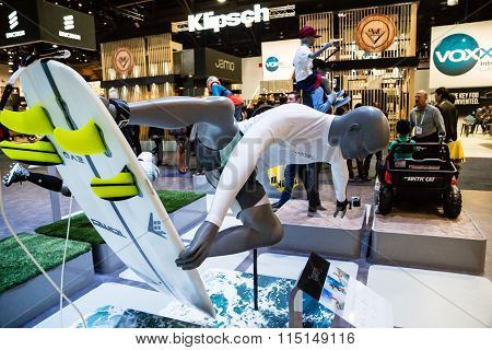 Surfer Dude At CES Trade Show