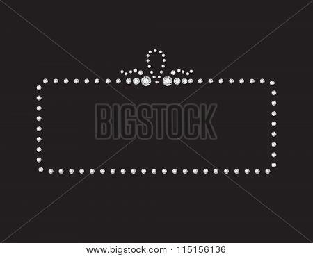Diamond Creative Deco Frame On Black