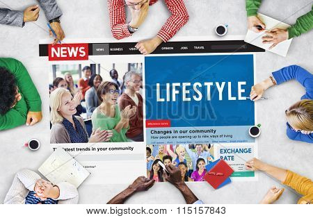Lifestyle Behaviour News Feed Article Concept