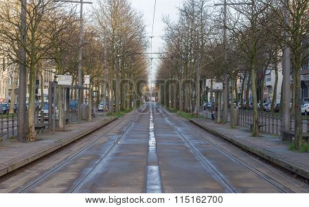 Antwerp, Belgium - December 23, 2015: Public Transport In Antwerp. Antwerp Is The Capital Of Antwerp