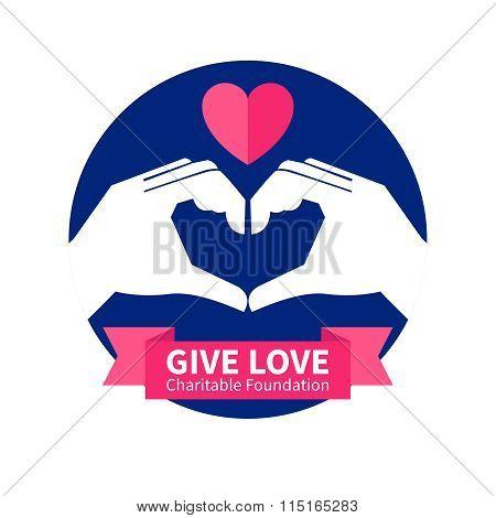 Charitable Foundation Logo Illustration