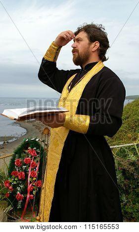Orthodox priest moleben