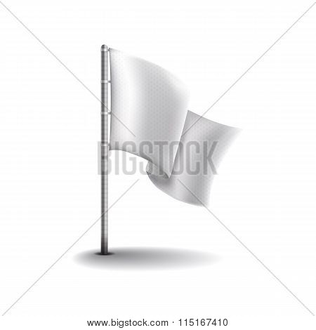 Racing flag mockup for your designs template.