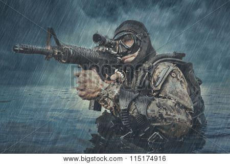 Navy SEAL frogman