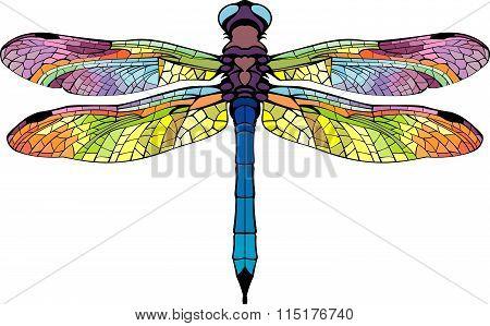 Bright Stylized Dragonfly