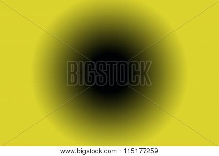 blackhole in yellow background