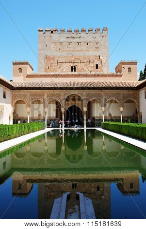Court of the Myrtles, Alhambra Palace.