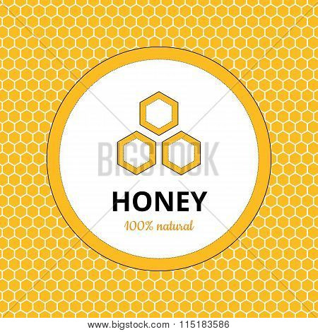 Logo, sticker for honey brand, apiary