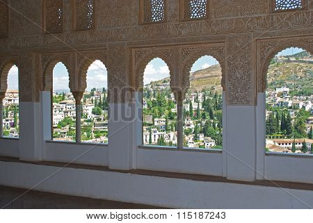 Cuarto Dorado arches, Alhambra Palace.