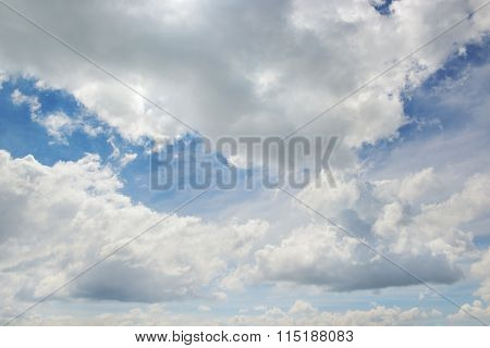 white fluffy clouds