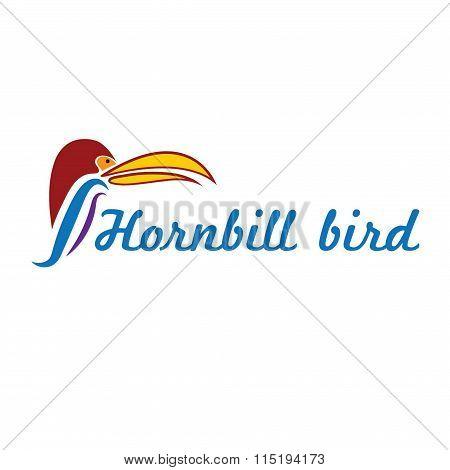 Catoon Hornbill Bird