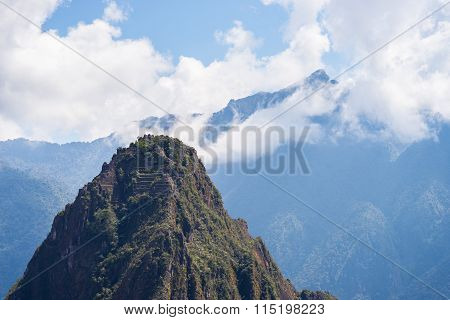 Wayna Picchu Mountain Peak Over Machu Picchu, Peru