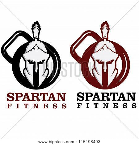 Spartan Fitness Vector Design Template