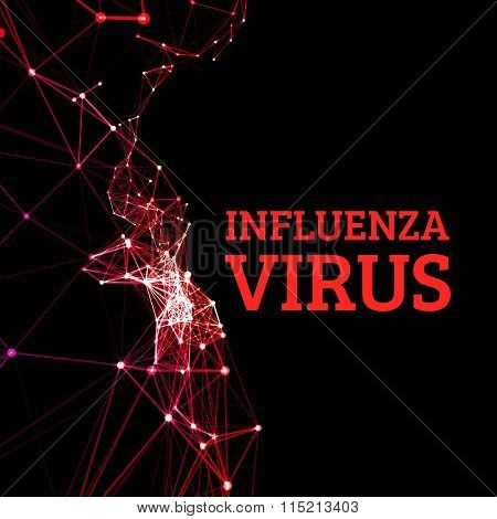 Influenza virus vector illustration
