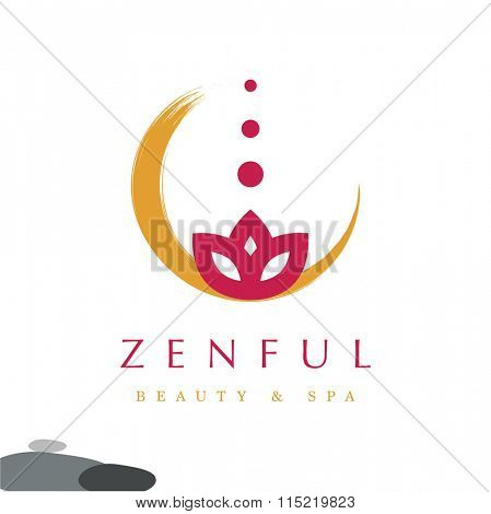 PREMIUM DESIGN, SPA OR MASSAGE VECTOR LOGO