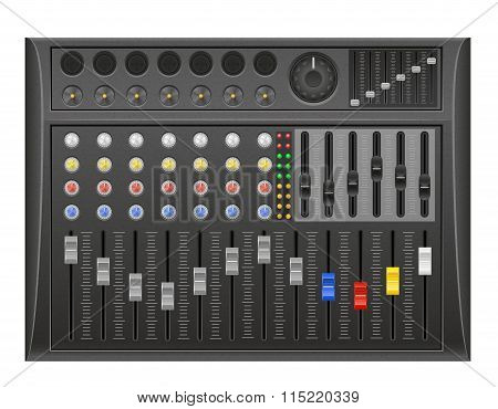 Panel Console Sound Mixer Vector Illustration