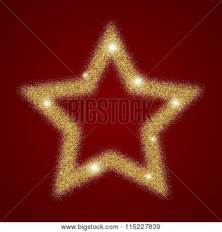 gold star shining light