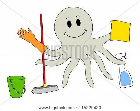 Cleaning Octopus