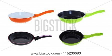set of frying pans