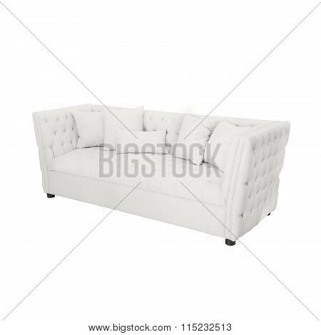 white Luxurious sofa