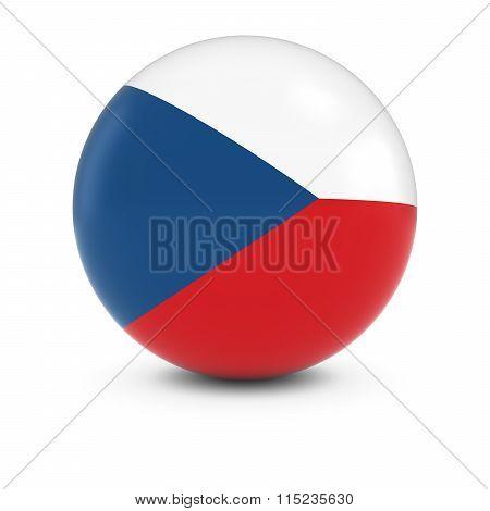 Czech Flag Ball - Flag Of The Czech Republic On Isolated Sphere