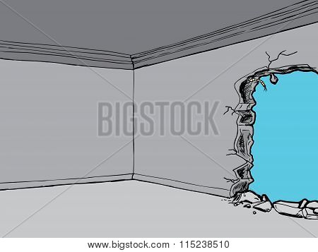 Room With Hole In Wall