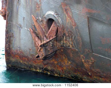Rusty Anchor On The Hikitia