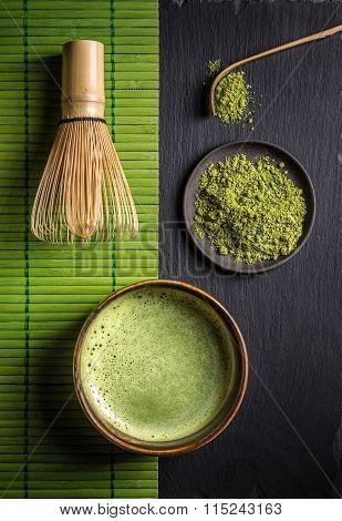 Matcha Accessories And Green Tea