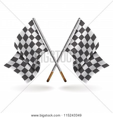 Racing formula 1 flags isolated on light background
