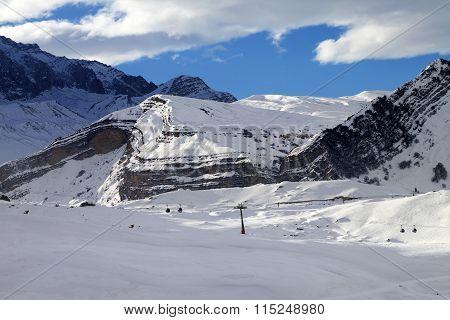 Ski Resort At Evening