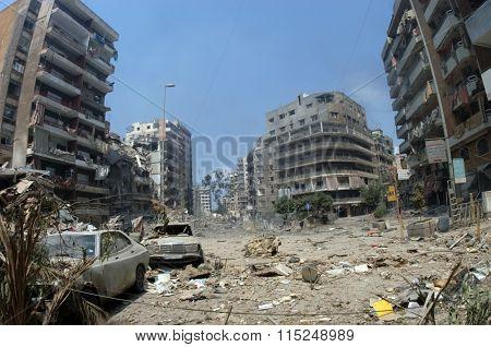 Bombed Beirut
