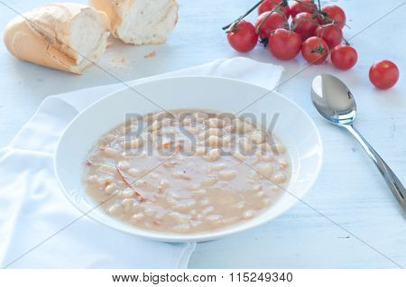 Borlotti Bean Soup With Tomato And Olive Oil