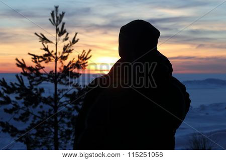 Man In The Sunset