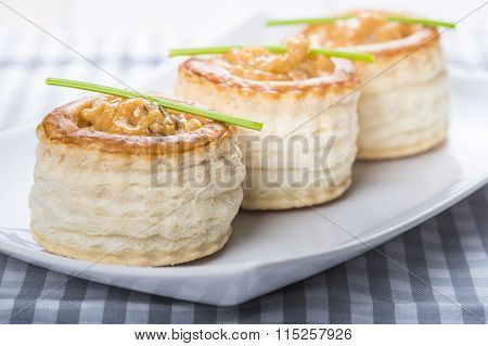 Vol Au Vent Stuffed With Seafood Cream