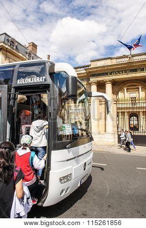 International Tourists In Paris, France