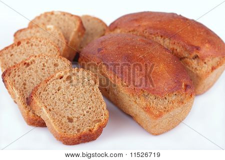 Fresh baked homemade rye bread
