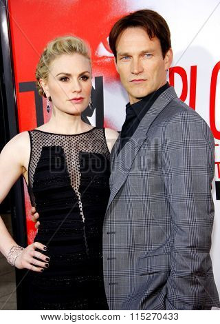 Stephen Moyer and Anna Paquin at the HBO's