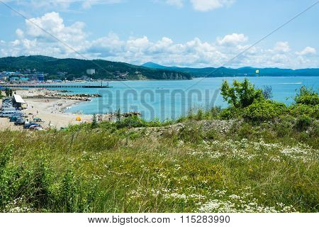 View On The Sea Shore In The Village Of Lermontovo.