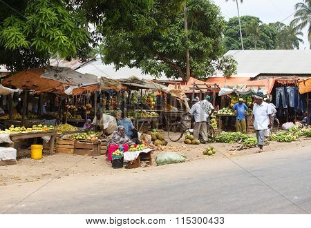 Traditional Market Of Fruits