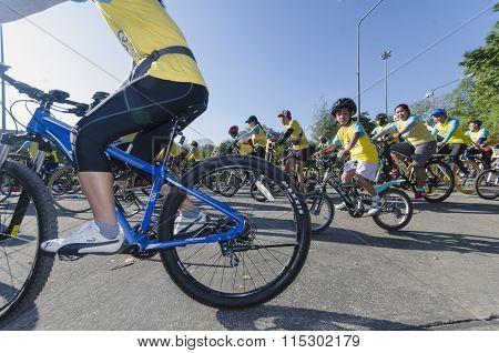 Boy At Bike For Dad