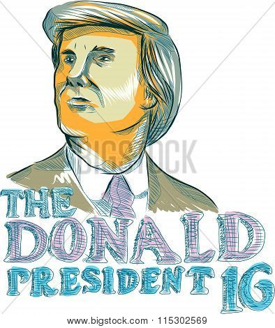 Trump President 2016 Drawing