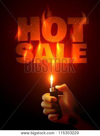 Hot Sale. Vector illustration.