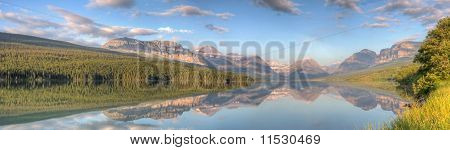 Lake Sherburne Reflection Panorama