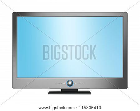 Plasma TV isolated on white