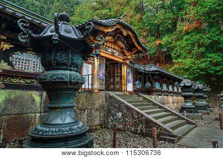 NIKKO, JAPAN - NOVEMBER 17, 2015: Taiyuinbyo - the Mausoleum of Shogun Tokugawa Iemitsu, the grandson of Ieyasa : the first Shogun of the Tokugawa clan