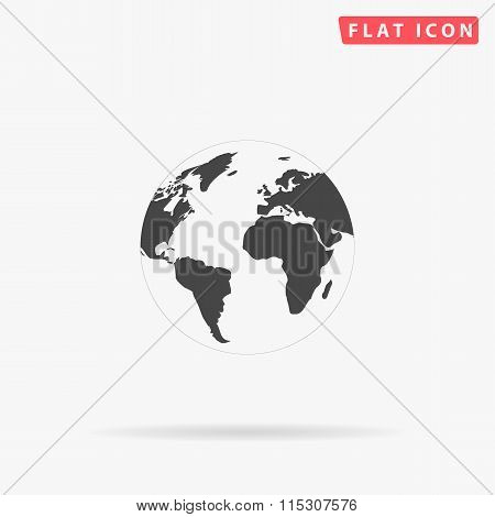 Globe earth simple flat icon