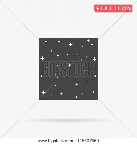 Starry night simple flat icon