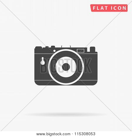 photo camera simple flat icon