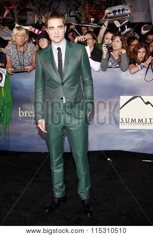 Robert Pattinson at the Los Angeles Premiere of